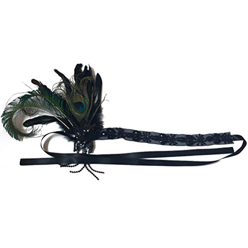 Lurrose Tocado de plumas de pavo real de la boda tocado pelo...