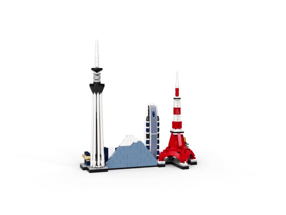 LEGO 21051 Architecture Skyline Collection Tokio, Set de ...