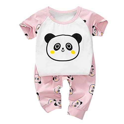 Best Deals! Rishine Baby Boys Cartoon Print Tops+Pants Outfits 1-4 Years Toddler Kids Panda Pattern ...