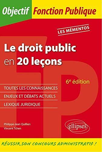 Le Droit Public En 20 Lecons