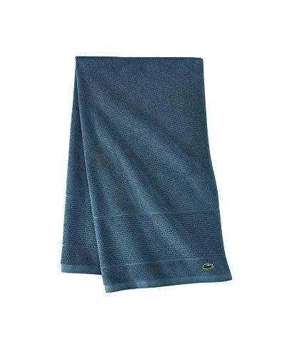 Lacoste Legend - Toalla de algodón 100% Supima, 650 g/m², 30 cm de Ancho x 137 cm de Largo, Color Verde Azulado Oscuro