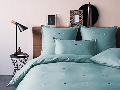 Matt & Rose 044331 Dragées Délices Housse de couette Coton Bleu/Orage 220 x 240 cm