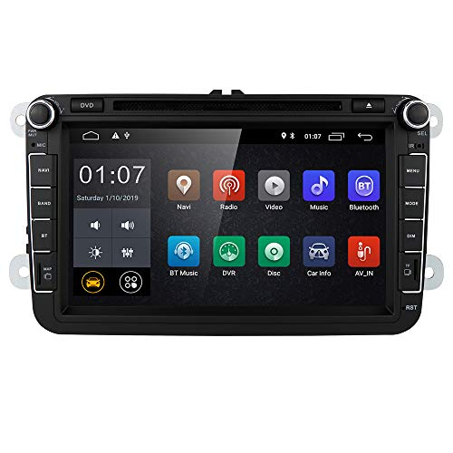 8' Android 10 HD Digital Multi-touch Screen 1080P Video Car in Dash GPS DVD Player fit for VW Volkswagen / Seat / Skoda