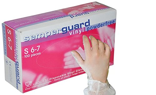 Semperguard 815780039/3000001447 Hygienehandschuhe aus Vinyl, puderfrei, Größe XL, 9-10, Transparent (90 er-Pack)