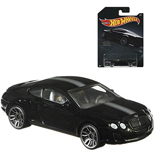 Hot Wheels 1:64 Scale Black Bentley Continental Supersports 3/6 Diecast Model Car