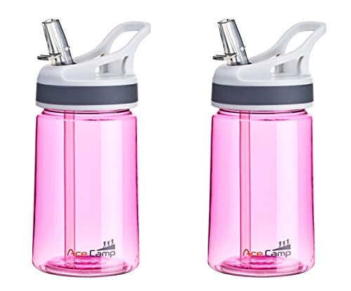 AceCamp TRITAN Botella de Agua | Botella de Agua a Prueba de Fugas sin BPA | Biberón Deportivo Pajita I Tallas.