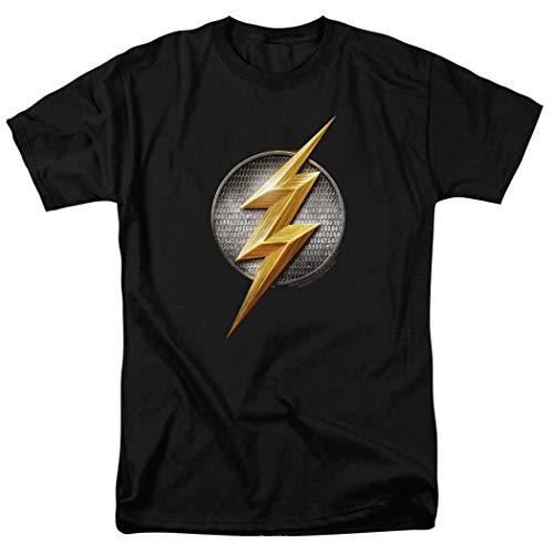 Justice League The Flash Logo DC Comics T Shirt & Stickers (Medium)