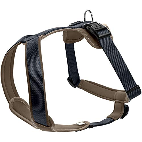 HUNTER NEOPREN Hundegeschirr, marine/walnuss, 60-76 cm