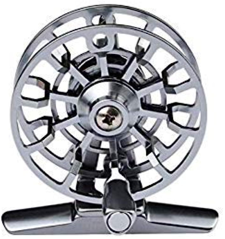 GEOPONICS Fishing Reel Fly Reel Bearing Full Metal Fly goldDiameter Fishing Wheel Diameter color HI155R Silver