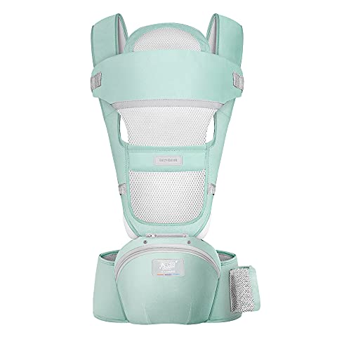 Acumas 360 All-Position Baby Carrier Baby Hip Seat Ergonomic Breathable Front Multifunctional Protection for Baby Hip Carriers Silicone Cushion Adjustable Carrier