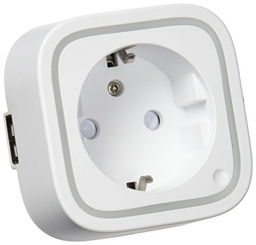 Aeotec Smart Switch 6 mit USB-Ladeanschluss, Z-Wave Plus-Buchse für die drahtlose Steuerung für Home Security Automation, 13 A, Mini-Größe, EU-Stecker