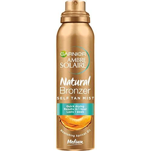 Garnier Ambre Solaire Spray Natural Bronzer, Spray Autoabbronzante, Texture Leggera, Dona un Colorito Naturale che Dura fino a una Settimana, 150 ml,