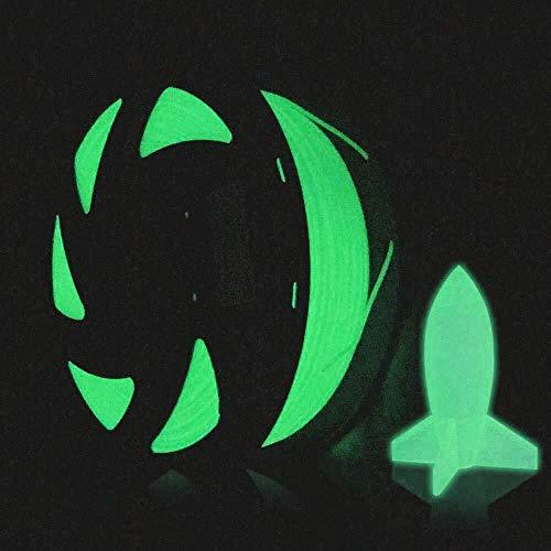 HAWKUNG 1.75 mm 3D Printer Filament, 1kg Spool (2.2 lbs), Glow in the Dark PLA Filament Suitable for Most 3D Printer and 3D Pen (Luminous Blue)