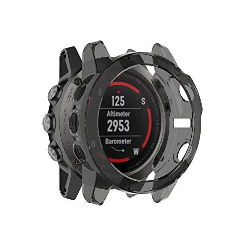 Tencirud - 2 fundas compatibles con Garmin Fenix 5X Funda protectora de TPU suave para reloj inteligente Fenix 5X