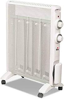 Radiador infrarrojo con 2 niveles de potencia 1500 W, color blanco – Calefactor adicional sobre ruedas