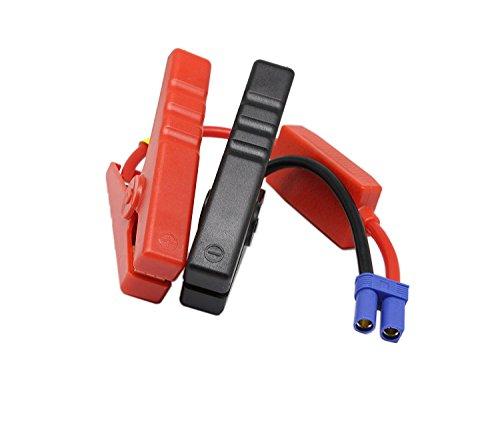 SinLoon Starthilfekabel, Alligator-Clip, EC5-Anschluss, Notfall-Starthilfekabel, Alligator-Clips für Auto, 12 V, tragbar