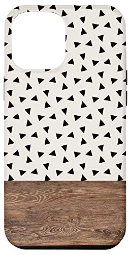 iPhone 12 Pro Max Boho Triangle Pattern Minimalistic Geometric Polka Dot Case