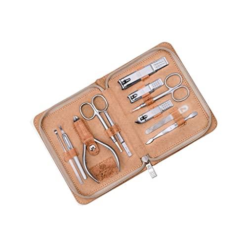 Herramientas para el cuidado de las uñas Conjunto de manicura de acero al carbono Home Professional Pedicure Set Portable Travel Beauty Set con moda portátil PU Funda de cuero (conjunto de 11 piezas)
