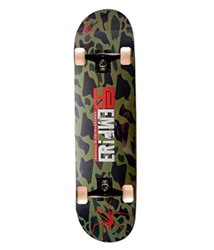 Empire Des Monopatin 31'X8' 9Ply Skateboard, Adultos Unisex, Verde (Military)