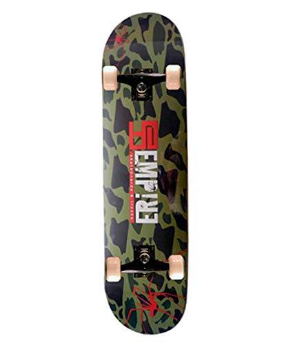 "Empire Des Monopatin 31""X8"" 9Ply Skateboard, Adultos Unisex, Verde (Military)"