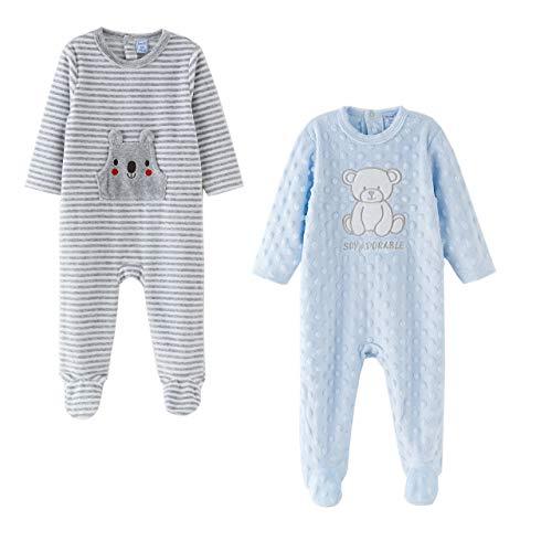 Amomí, Pijamas para Bebé, Pelele para Niños hasta 24 Meses (18 Meses, Set 2 pcs)