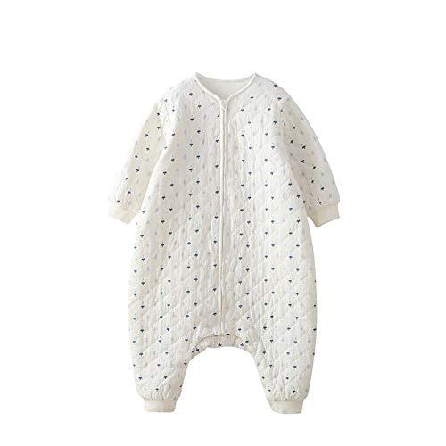 Bedrukte Slaapzak Verdikkende Baby Slaapzak 80cm Kleur: wit