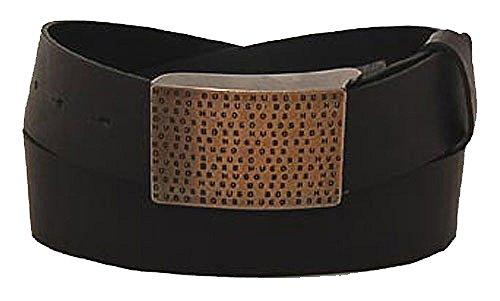 BOSS Ceinture homme casual belt leather black 80cm