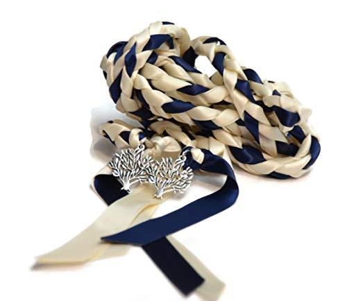Ivory Navy Tree Of Life Wedding Handfasting Cord #Wedding #WeddingCeremony #DivinityBraid #Celtic #Handfasting #HandfastingCord #CelticWedding #TreeOfLife