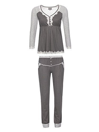Vive Maria Gray Night Pyjama Gray Melange/Grey Allover, Größe:XL