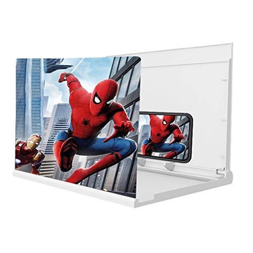 Handy-Bildschirmverstärker Bildschirmlupe für Mobiltelefon, 3D-Mobiltelefon-Bildschirm-Lupe, Telefon-Bildschirmverstärker, großer Bildschirm Blu-ray ultra-clear Film-Videoprojektor mit allen Smartphon