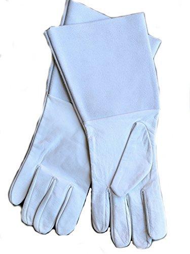 Damen Echtleder Gartenhandschuhe können be PERSONALISIERT - Weiß, Add Text