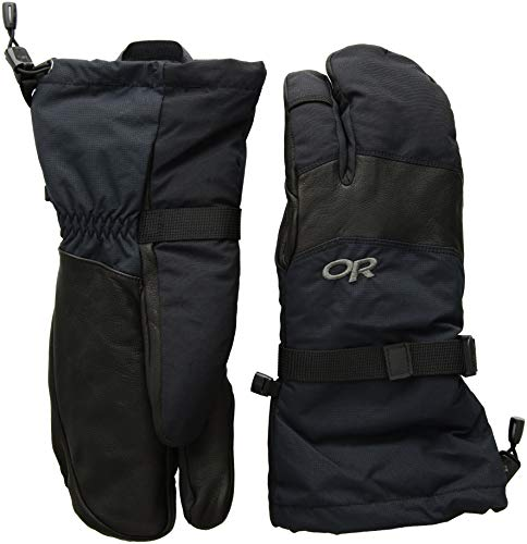 Outdoor Research Mens Highcamp 3 Finger Gloves Black Small