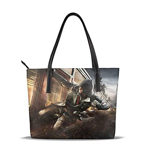 Assassin s Creed Bolsos de hombro Bolsos de hombro Bolsos de viaje y ocio Aprendizaje Moda Tendencias Bolsos de mano de gran capacidad sólido y duradero