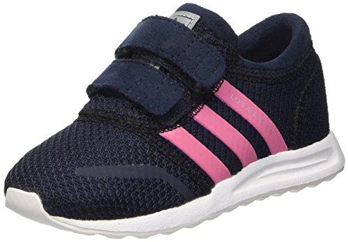 adidas Baby Mädchen Los Angeles Cf I Lauflernschuhe, schwarz/rosa, 27 EU