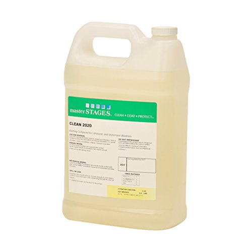 Master Stages CLEAN2020/1G Clean 2020 Washing Compound for Ultrasonic and Immersion Washers, Pale Yellow, 1 gal Jug