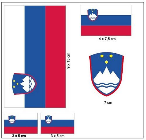 Aufkleber Set Slowenien Fahne Flagge