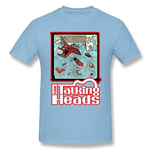 AJY Talking Heads -1 Men's Basic Short Sleeve T-Shirt Sky Blue 3X-Large