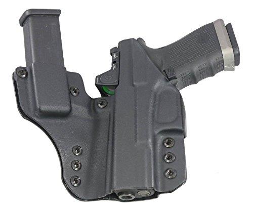 "Fierce Defender IWB Kydex Holster Glock 19 23 32"" The 1 Series -Made in USA- GEN 5 Compatible (Gunmetal Grey)"