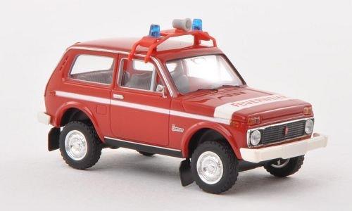 Lada Niva, Feuerwehr (DDR), Modellauto, Fertigmodell, Brekina 1:87