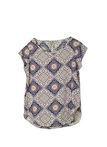 Only Onlnova S/s Top Wvn Camiseta sin Mangas, Multicolor (Cloud Dancer AOP: Mandala), 36 (Talla del Fabricante: 34) para Mujer