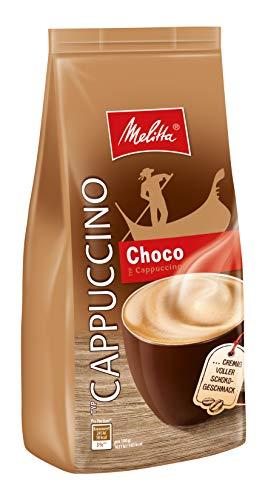Melitta Cappuccino, kaffeehaltiges Getränkepulver, feiner Schokoladengeschmack, cremig, Cappuccino Choco, 400 g Beutel