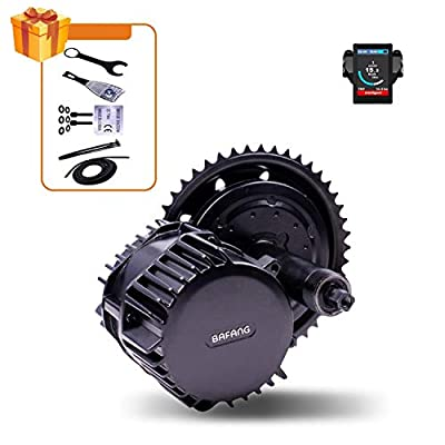 Bafang Electric Bike Conversion Ebike Motor Kit Bafang Mid Drive BBS02B 500W 750W BBSHD BBS03 1000W 8FUN E-Bike Components Electric Bicycle Central Engine with Optional Display