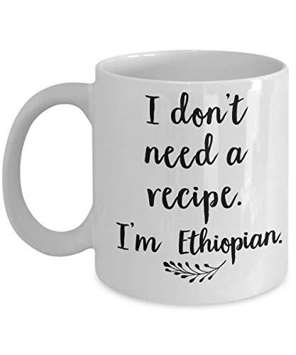 N\A Äthiopischer Kaffee - äthiopisches Kochbuch - äthiopischer Tee - äthiopische Geschenke - Äthiopien - 11 Unzen 11 Unzen weiße Tasse