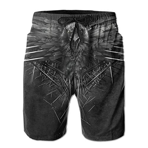 YGHIHW Game Thrones TV Show - Pantalones cortos de playa para hombre, para verano, natación, surf, impresión 3D, con cordón, dos bolsillos laterales