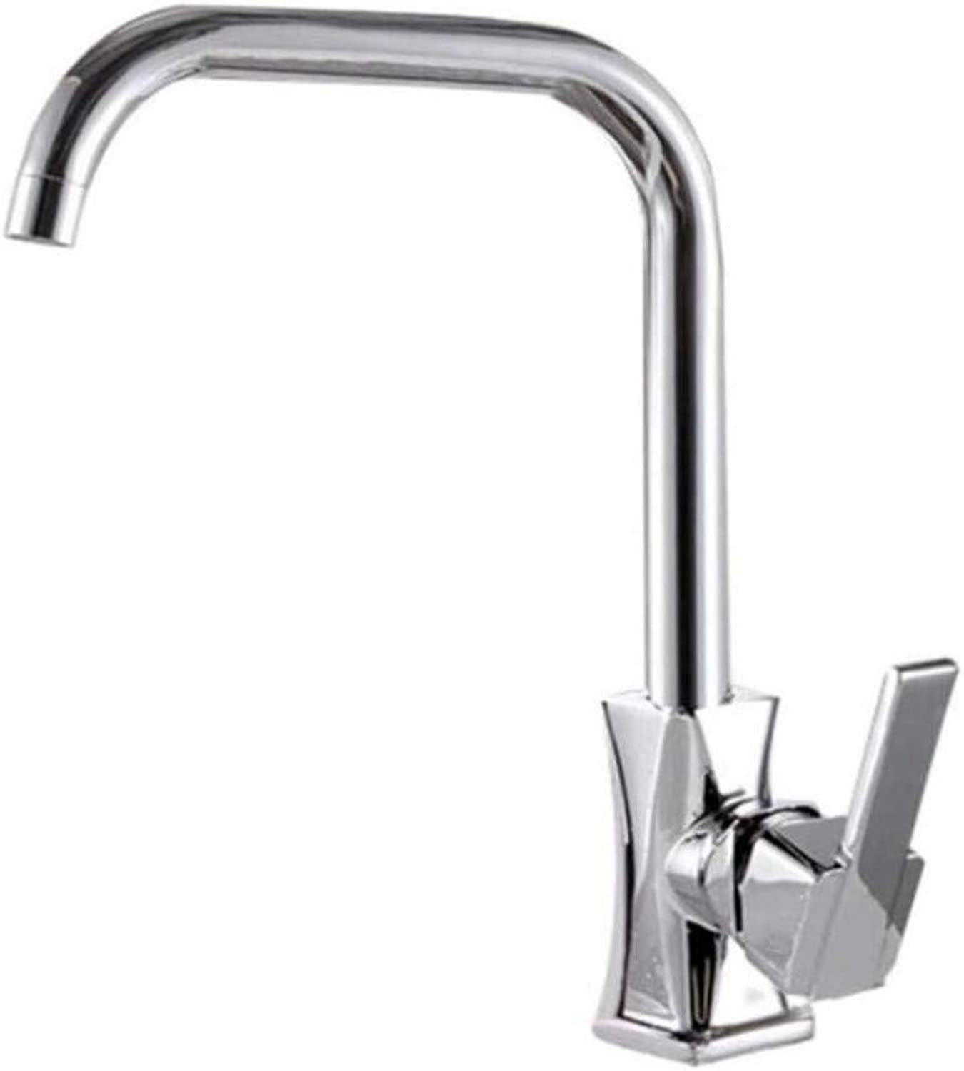 Taps Kitchen Sinktaps Mixer Swivel Faucet Sink Cooking Basin Cold and Hot Faucet Waist Seven Words