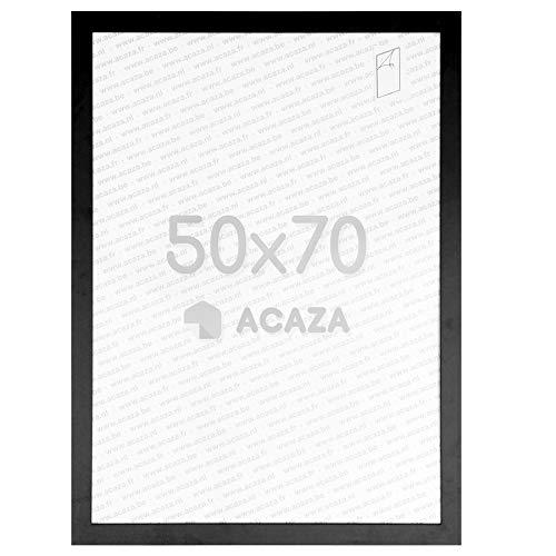 Acaza Cadre Photo 50x70 cm pour Photos et Posters, Bois MDF, Noir