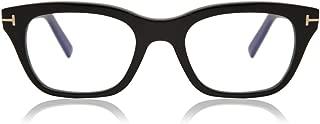 Eyeglasses Tom Ford FT 5536 -B 001 Shiny Black/Blue Block Lenses
