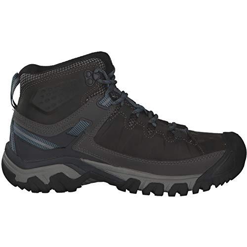 KEEN Women's Targhee 3 Mid Waterproof Hiking Boot, Magnet/Atlantic Blue, 7.5 M (Medium) US