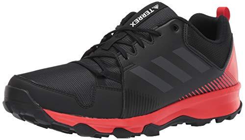 adidas outdoor Men's Terrex Tracerocker Trail Running Shoe, Black/Carbon/Active RED, 10.5 D US