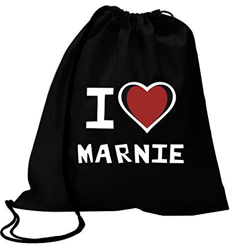 "Idakoos I Love Marnie Bicolor Heart Bolsa Deportiva 18"" x 13"""